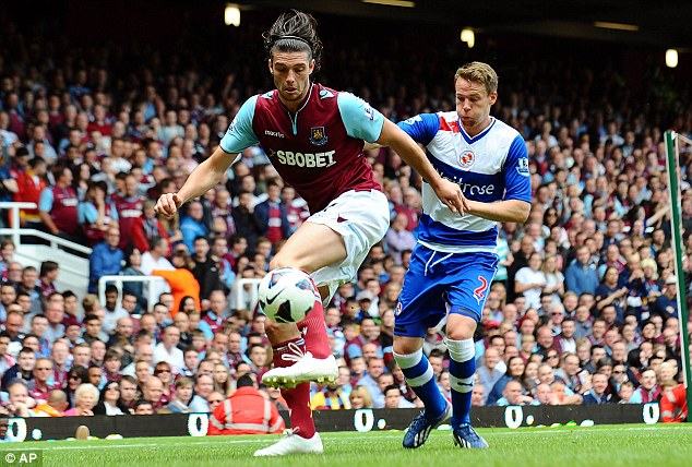 London calling? Andy Carroll could move permanently to West Ham after the club agreed a fee with Liverpool