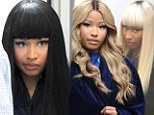 Getting wiggy with it! Nicki Minaj dons three different wigs on the set of The Other Woman