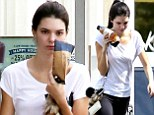 Fresh from the Twitter wars: Kendall Jenner still looking upset after being called a 'f--king idiot' by Frances Bean Cobain