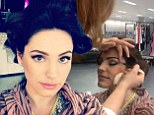 Kelly Brook shares make-up video on Keek