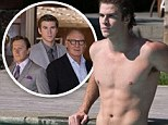 Shirtless! Liam Hemsworth shows off his toned abs in a new still for his film Paranoia