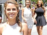 Maria Menounos and Wendy Williams shoot a segment for