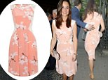 Pippa Middleton wearing the £285 Tabitha Webb dress at the Waitrose summer party earlier this week
