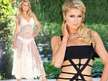 Ready for some strange tan lines? Paris Hilton rocks two not-so-typical bikinis for 'private' photo shoot