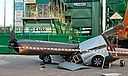 A British white van man cheated death by seconds in Germany when a falling 130 crane arm cut his truck in half.