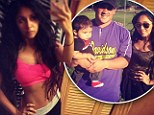 'At the gym and LOVING it': Snooki tweeted a picture of her slim body as she headed to a workout on Saturday