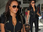The former Spice Girl looked glamorous in her skin-tight black outfit as she left the French Riviera with her husband Stephen Belafonte.