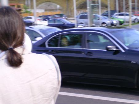 Wir sprachen Herrn Dr. Schäuble mit der Flüstertüte direkt an
