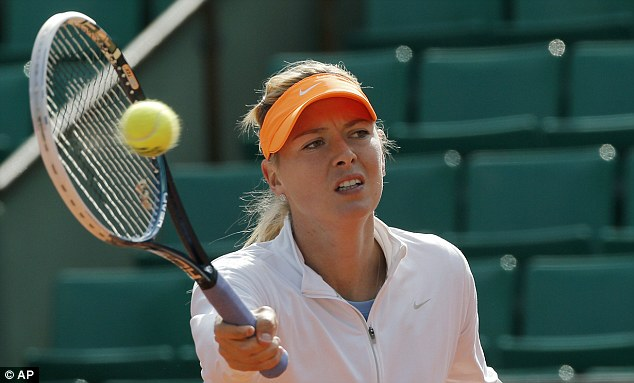 Focused: Sharapova is understandably keen to retain her title