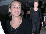 She doesn't need make-up! Sharon Stone is fresh-faced and radiant as she goes au natural for flight back from Cannes
