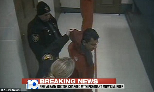Booked: Salim, pictured, was booked into Delaware County Jail on Wednesday