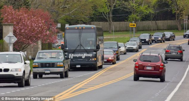 Hamptons locals have complained about an influx of young out-of-towners who travel to their beaches via coaches to avoid the rules preventing them from parking by the beach