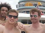 Postcard: Spurs manager Andre Villas-Boas is right in the middle of his players enjoying the sun