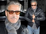 What happened to 'the sexiest man alive'? George Clooney looks grandfatherly in plaid scarf as he dines out in London