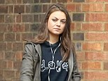 Missing her man? Mila Kunis was seen enjoying a walk around London on her own on Saturday