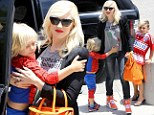Gwen Stefani brings her sleepy Spider-Man and soccer star sons to a Noah's Ark exhibit