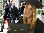Look who's graduating! Bruce Willis' daughter Scout makes him proud as she receives diploma from Brown University