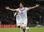 French fancy: Lyon midfielder Clement Grenier, who scored against Rennes on Sunday, is wanted by Arsenal