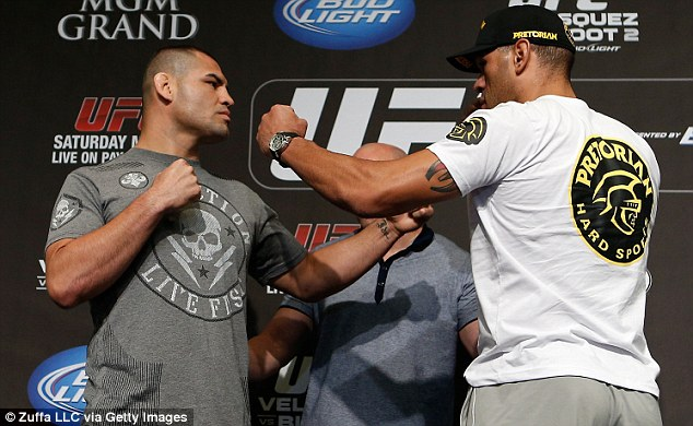 You first: Antonio 'Bigfoot' Silva (right) will take on Cain Velasquez in a rematch in Las Vegas