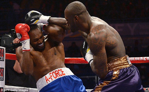 Embarrassing loss: Audley Harrison lost to Deontay Wilder in just 70 seconds