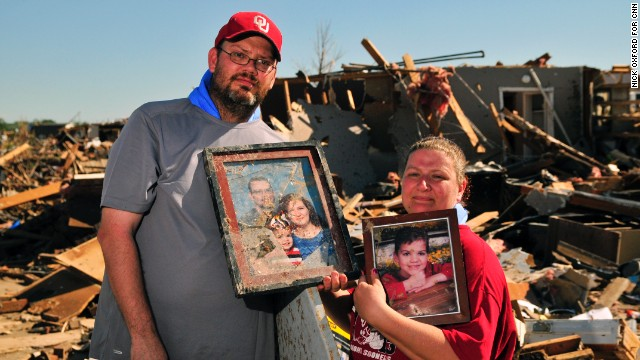 Thomas and Lisa Jones located some family photos of them and their son, Anthony.