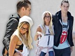 In step: Ashley Tisdale and boyfriend, Annie Automatic musician Christopher French, were spotted in LA on Saturday