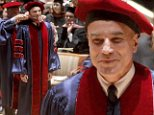 'And the honorary degree goes to...Daniel Day-Lewis!' The Oscar winner was all smiles at the Juliard commencement ceremony