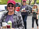 Better days: Richie Sambora enjoyed the start of Memorial Day Weekend by taking a trip to Starbucks in Calabasas, CA with his daughter Ava on Saturday