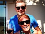Vino in the sunshine: Patrick Kielty and Cat Deeley enjoy a glass of wine in Los Angeles over the weekend