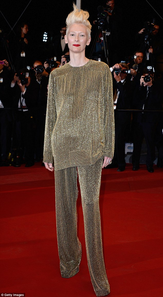 Tilda is known for her distinctive style and the Cannes red carpet was no different on Saturday evening