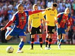 Breakthrough: Marco Cassetti fouled Wilfried Zaha before Kevin Phillips scored from the penalty spot