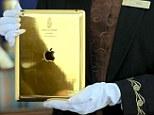 The gold iPad