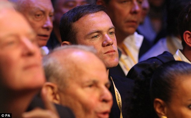 Ringside: Manchester United striker Wayne Rooney was at the O2 Arena on Saturday night