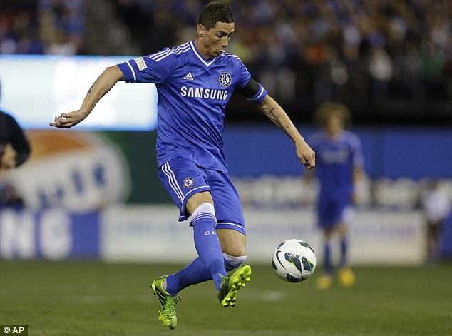 Fellow striker: Ba dismissed the idea that him and Torres were rivals