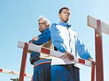 Standing their ground: Ervin Mears Jr. (left) filed a $40million lawsuit because his son Mawusimensah was kicked off of his high school's track team even though he was one of the quickest runners