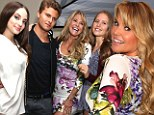 Christie Brinkley, 59, looks incredible in floral mini-dress posing with her three grown children at the Social Life Magazine soiree