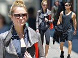 The couple that workouts together! Newlyweds Katrina Bowden and Ben Jorgensen cut a fit figure as they step out to the gym in New York City