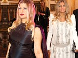 From black to white, Fergie flaunts her daring pregnancy style with two dramatically different looks at the Life Ball
