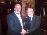 Deal: Rafa Benitez shaking hands with Napoli president Aurelio de Laurentiis