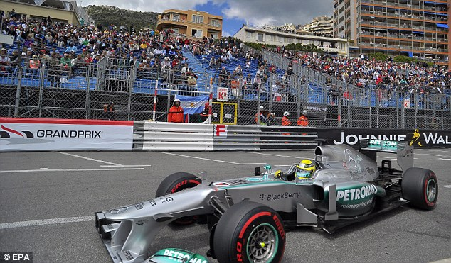 Main man: Nico Rosberg will start the Monaco Grand Prix from pole position in his Mercedes