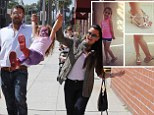 Following in Suri's footsteps? Kyle Richards tweets snaps of her four-year-old daughter Portia in high heels