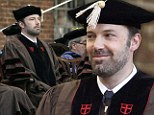Pretty fast work! Ben Affleck dons a cap and gown as he picks up honorary doctorate from Brown University