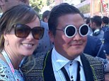 Duped: Amanda Holden posted a picture of herself with Psy lookalike Denis Carré at the Monaco Grand Prix