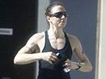 They don't call her Sporty Spice for nothing! Mel C displayed her very muscly arms and shoulders as she kicked off her day with an early morning run in Perth, Australia, on Sunday
