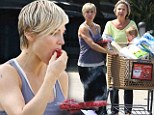 Berry good! Elsa Pataky and daughter India chow down on raspberries as grandma Cristina smiles on