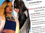 Rihanna and Amanda Bynes tweets