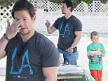 Mark Wahlberg looks tired