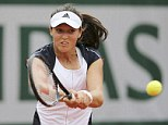All over: Laura Robson was beaten in straight sets by Caroline Wozniacki at the French Open