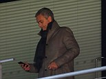 Back in town: Jose Mourinho was at Wembley to watch Watford take on Crystal Palace