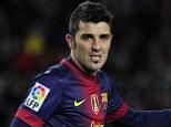 Spurs-bound? Barcelona striker David Villa is a target for Tottenham, who rate him at £10 million